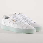 /achat-baskets-basses/adidas-baskets-femme-sleek-g27342-footwear-white-ice-minth-173038.html