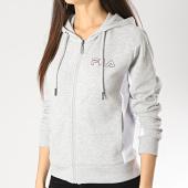 /achat-sweats-zippes-capuche/fila-sweat-zippe-capuche-femme-pola-687154-gris-chine-173025.html