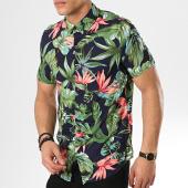 /achat-chemises-manches-courtes/frilivin-chemise-manches-courtes-bm1043a-bleu-marine-vert-floral-172892.html