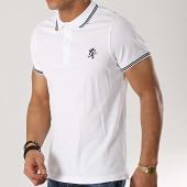 /achat-polos-manches-courtes/gym-king-polo-manches-courtes-signature-pique-blanc-noir-172945.html