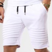 /achat-shorts-jogging/lbo-short-jogging-avec-empiecements-648-blanc-173075.html