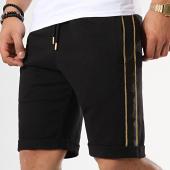 /achat-shorts-jogging/lbo-short-jogging-avec-bandes-661-noir-dore-173080.html