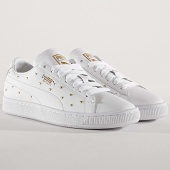/achat-baskets-basses/puma-baskets-femme-studs-369298-01-white-team-gold-172956.html