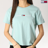 /achat-t-shirts/tommy-hilfiger-jeans-tee-shirt-femme-clean-boxy-logo-5455-bleu-turquoise-172876.html