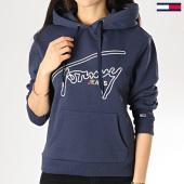 /achat-sweats-capuche/tommy-hilfiger-jeans-sweat-capuche-femme-signature-6130-bleu-marine-172884.html