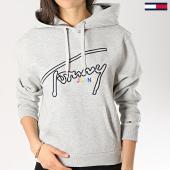 /achat-sweats-capuche/tommy-hilfiger-jeans-sweat-capuche-femme-signature-6130-gris-chine-172885.html