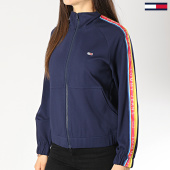 /achat-vestes/tommy-hilfiger-jeans-veste-zippee-femme-avec-bandes-6134-bleu-marine-172887.html
