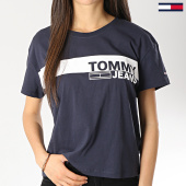 /achat-t-shirts/tommy-hilfiger-jeans-tee-shirt-femme-corporate-stripe-chest-6229-bleu-marine-172893.html