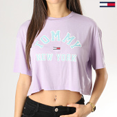 /achat-t-shirts/tommy-hilfiger-jeans-tee-shirt-crop-femme-collegiate-6275-lilas-172899.html