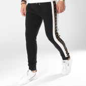 /achat-pantalons-joggings/final-club-pantalon-jogging-gold-label-avec-bandes-et-broderie-or-183-noir-173087.html