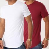 /achat-t-shirts-longs-oversize/lbo-lot-de-2-tee-shirts-oversize-715-bordeaux-et-blanc-173222.html