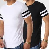 /achat-t-shirts-longs-oversize/lbo-lot-de-2-tee-shirts-oversize-avec-bandes-718-noir-et-blanc-173224.html