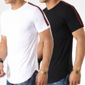 /achat-t-shirts-longs-oversize/lbo-lot-de-2-tee-shirts-oversize-avec-bandes-713-noir-et-blanc-173225.html