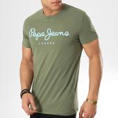 /achat-t-shirts/pepe-jeans-tee-shirt-original-stretch-vert-kaki-173159.html