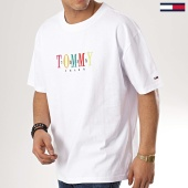 /achat-t-shirts-longs-oversize/tommy-hilfiger-jeans-tee-shirt-oversize-tommy-6080-blanc-173184.html
