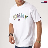 /achat-t-shirts/tommy-hilfiger-jeans-tee-shirt-retro-geo-6086-blanc-173185.html