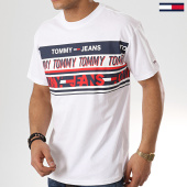 /achat-t-shirts/tommy-hilfiger-jeans-tee-shirt-essential-tommy-6090-blanc-173188.html