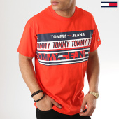 /achat-t-shirts/tommy-hilfiger-jeans-tee-shirt-essential-tommy-6090-rouge-173189.html