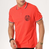 /achat-polos-manches-courtes/versace-jeans-polo-manches-longues-b3gtb7p0-36571-rouge-173165.html