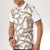 /achat-polos-manches-courtes/versace-jeans-polo-manches-courtes-contrast-b3gtb7p4-36571-blanc-renaissance-173172.html