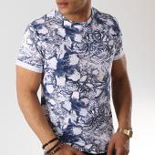 /achat-t-shirts/aarhon-tee-shirt-91272-blanc-bleu-marine-floral-173385.html