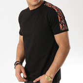 /achat-t-shirts/aarhon-tee-shirt-avec-bandes-91244-noir-reptile-173387.html
