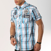 /achat-chemises-manches-courtes/geographical-norway-chemise-manches-courtes-patchs-brodes-ootopia-blanc-bleu-clair-173231.html
