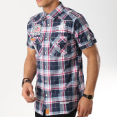 /achat-chemises-manches-longues/geographical-norway-chemise-manches-courtes-patchs-brodes-zumba-bleu-marine-rose-173262.html