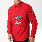 /achat-chemises-manches-longues/geographical-norway-chemise-manches-longues-patchs-brodes-zeclass-rouge-173272.html