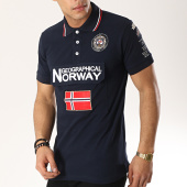 /achat-polos-manches-courtes/geographical-norway-polo-manches-courtes-patchs-brodes-kayfour-bleu-marine-173367.html