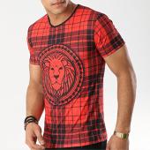 /achat-t-shirts/john-h-tee-shirt-tsm-17-carreaux-noir-rouge-173311.html