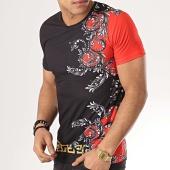 /achat-t-shirts/john-h-tee-shirt-tsm-12-noir-renaissance-rouge-173313.html