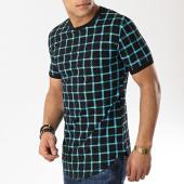 /achat-t-shirts-longs-oversize/john-h-tee-shirt-oversize-1937-noir-bleu-clair-173327.html