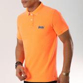 /achat-polos-manches-courtes/superdry-polo-manches-courtes-classic-pique-m11010et-orange-fluo-173392.html