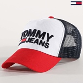 /achat-trucker/tommy-hilfiger-jeans-casquette-trucker-tjm-4675-blanc-rouge-bleu-marine-173314.html