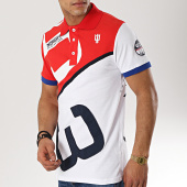 /achat-polos-manches-courtes/geographical-norway-polo-manches-courtes-patchs-brodes-kanoe-blanc-rouge-173557.html