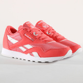 /achat-baskets-basses/reebok-baskets-femme-classic-nylon-color-cn7444-bright-rose-white-173481.html