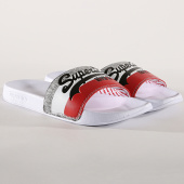 /achat-claquettes-sandales/superdry-claquettes-vintage-logo-mf3109st-blanc-173478.html