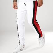 /achat-pantalons-joggings/terance-kole-pantalon-jogging-avec-bandes-88036-blanc-noir-rouge-173596.html