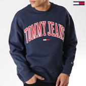 /achat-sweats-col-rond-crewneck/tommy-hilfiger-jeans-sweat-crewneck-clean-collegiate-bleu-marine-173426.html