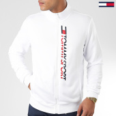 /achat-vestes/tommy-sport-veste-zippee-track-vertical-logo-blanc-173442.html