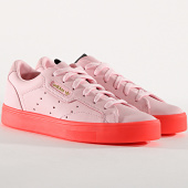 /achat-baskets-basses/adidas-baskets-femme-sleek-bd7475-diva-red-173843.html