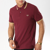 /achat-polos-manches-courtes/fred-perry-polo-manches-courtes-twin-tipped-m3600-bordeaux-jaune-173629.html