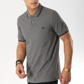 /achat-polos-manches-courtes/fred-perry-polo-manches-courtes-twin-tipped-m3600-gris-chine-noir-173636.html