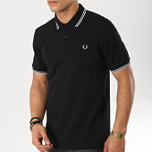 /achat-polos-manches-courtes/fred-perry-polo-manches-courtes-twin-tipped-m3600-noir-gris-173637.html