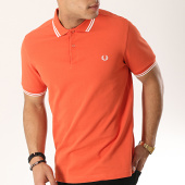 /achat-polos-manches-courtes/fred-perry-polo-manches-courtes-twin-tipped-m3600-orange-blanc-173638.html