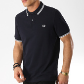 /achat-polos-manches-courtes/fred-perry-polo-manches-courtes-twin-tipped-m3600-bleu-marine-blanc-173647.html