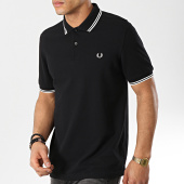 /achat-polos-manches-courtes/fred-perry-polo-manches-courtes-twin-tipped-m3600-noir-blanc-173650.html