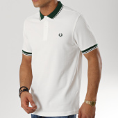 /achat-polos-manches-courtes/fred-perry-polo-manches-courtes-twin-tipped-m3600-blanc-vert-173659.html