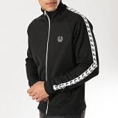 /achat-vestes/fred-perry-veste-zippee-avec-bandes-taped-j6231-noir-blanc-173663.html